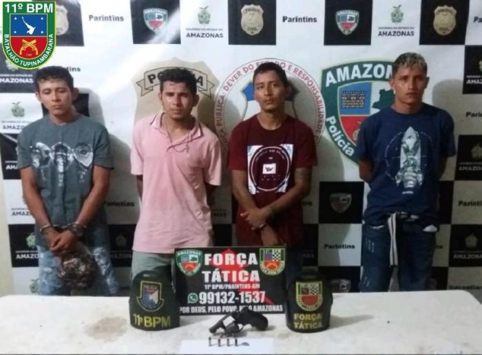 Polícia Militar prende envolvidos em tentativa de homicídio com arma de fogo em Parintins