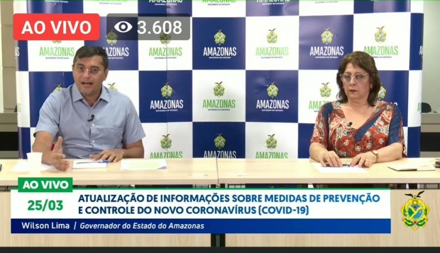 Corpo de empresário de Parintins vítima do coronavírus será cremado, em Manaus, diz Wilson Lima