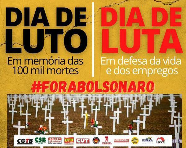 Manaus- AM terá homenagem aos 100 mil mortos pela Covid e protesto contra Bolsonaro