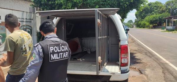 Valentão é preso ao bater na ex-mulher no meio da rua, em Maués-AM