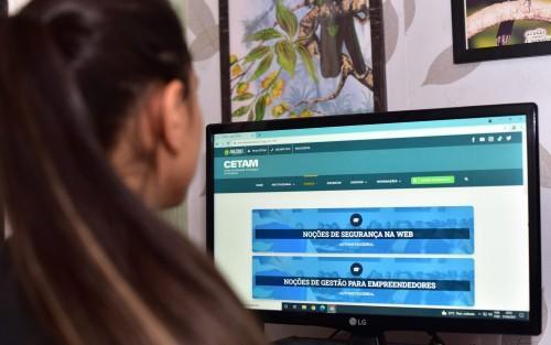 Cetam inscreve para 17 mil vagas em cursos na modalidade EaD nesta segunda