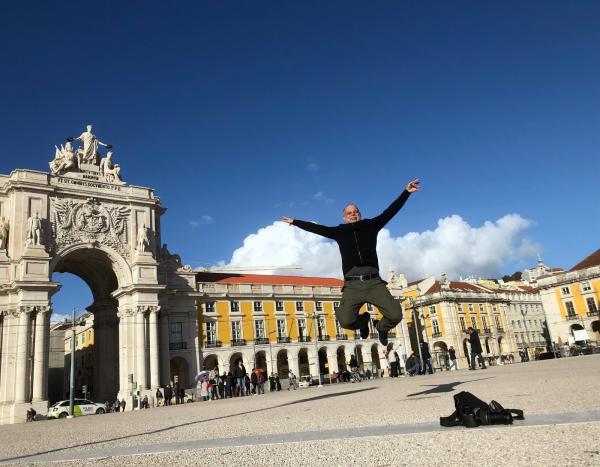 A incrível e emotiva viagem de Wigder Frota a Portugal