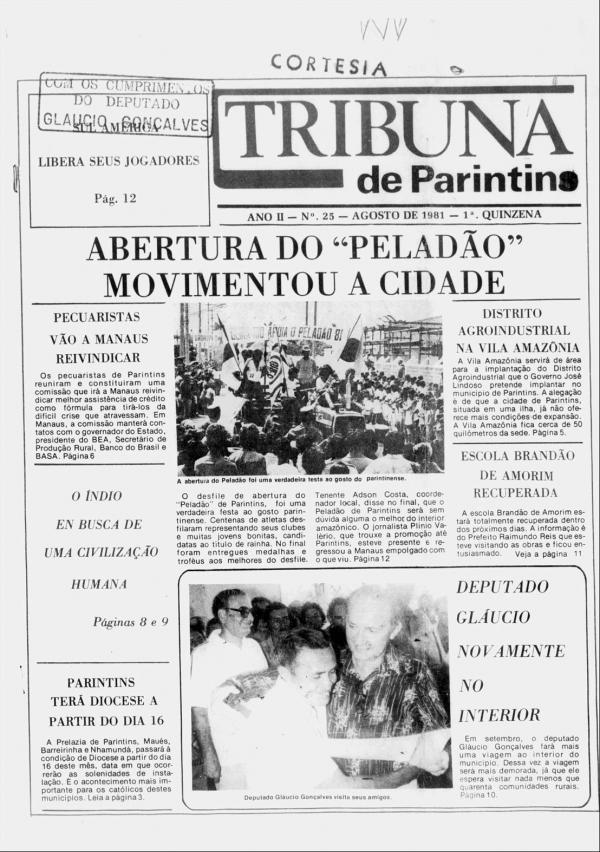 Peladão movimentou as ruas de Parintins, em 1981